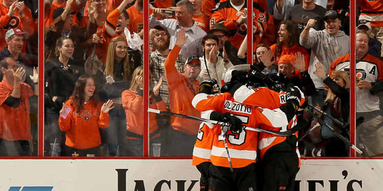 Philly Flyers celebrating goal