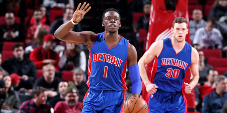 Detroit Pistons players in action