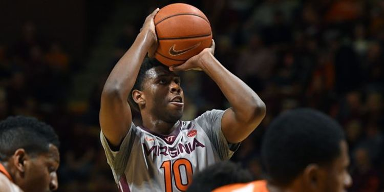 Virginia Tech Hokies player in action