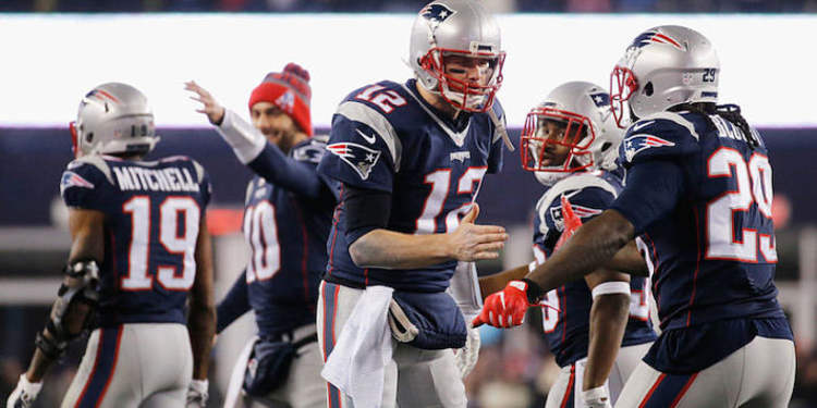 New England Patriots players in action