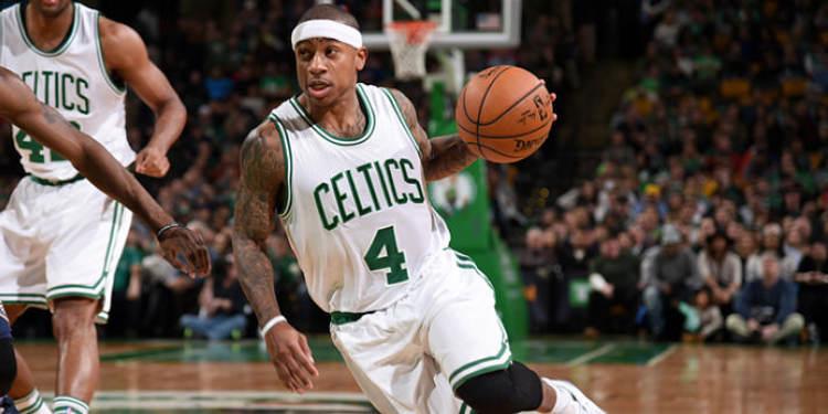 Boston Celtics player in action