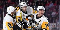 Pittsburgh Penguins players celebrating