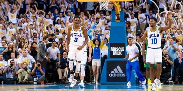 UCLA Bruins player celebrating