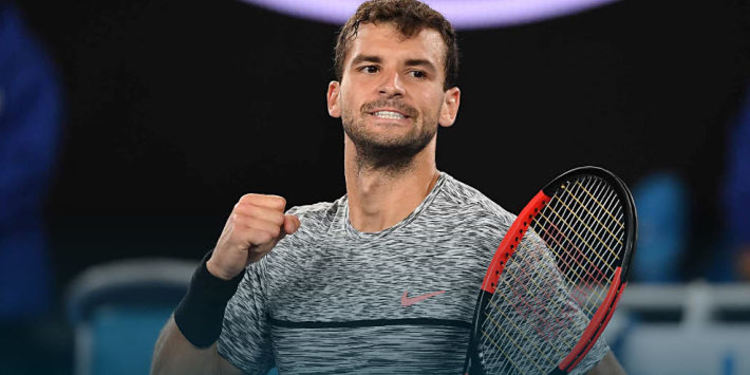 Tennis player Grigor Dimitrov