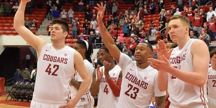 Washington State Cougars players in bench