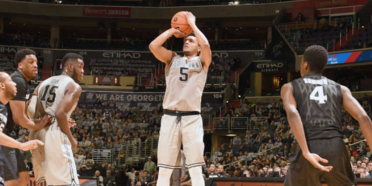 Georgetown Hoyas player in action