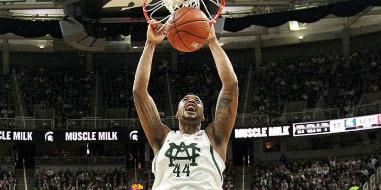 Michigan State Spartans player in action