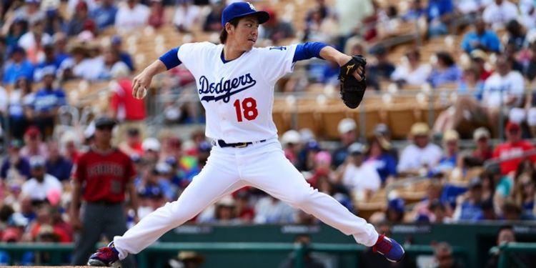 Kenta Maeda of the Dodgers