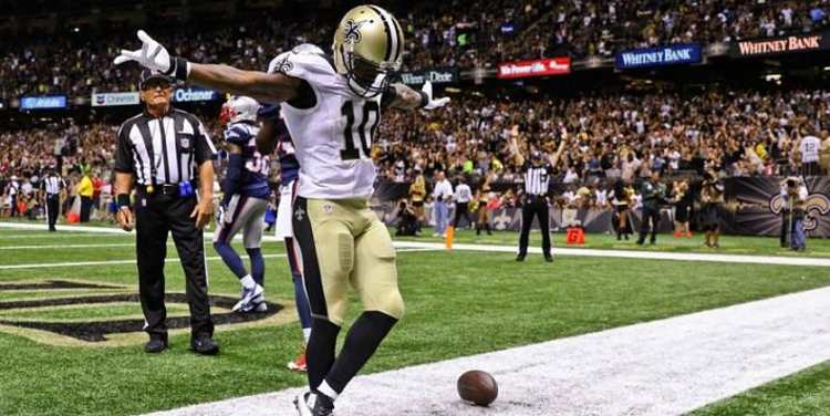 New Orleans Saints player celebrating