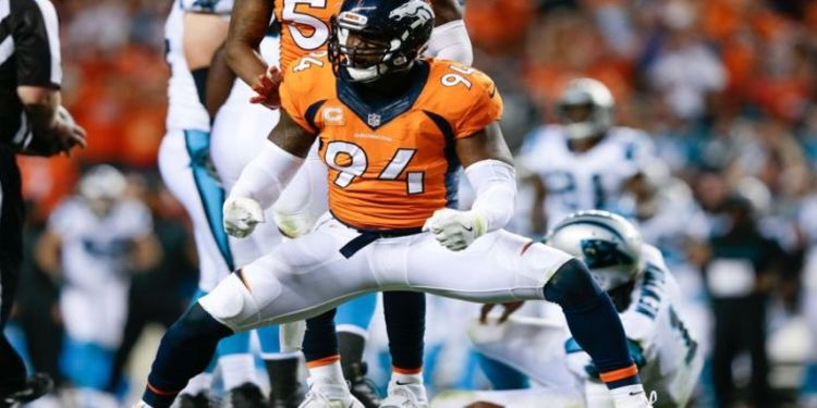 Broncos Player Celebrates Touchdown Over Panthers In Week 1