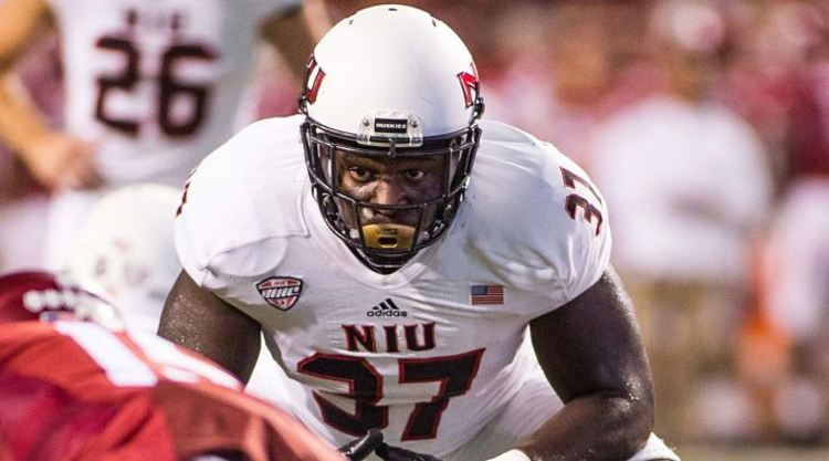 Northern Illinois Huskies Player Looks Intense