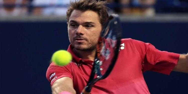 Stanislas Wawrinka Hitting The Tennis Ball