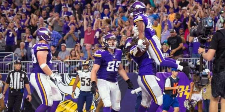 Minnesota Vikings Team Players Celebrating Touchdown