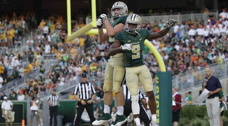 Baylor Bears Jump In End Zone