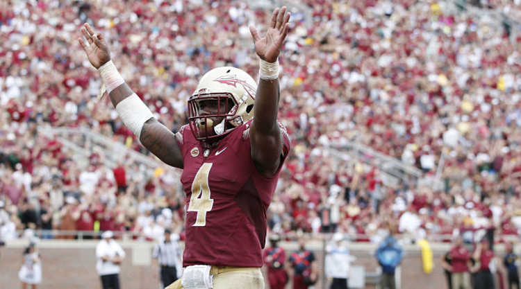 Florida State Seminoles Player Celebrates
