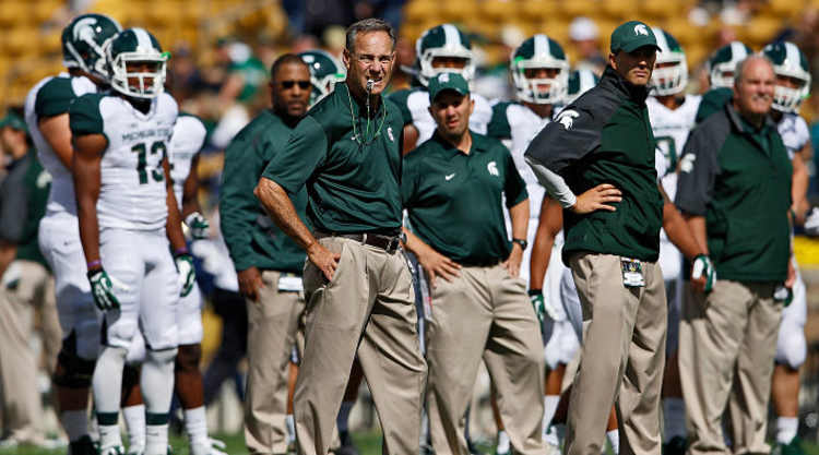 Michigan Spartans At The Sidelines