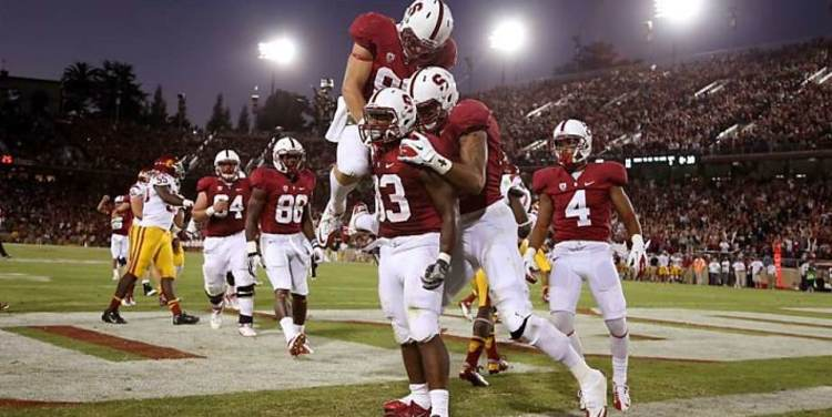 Stanford Cardinal team celebrating