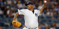 Yankees Pitcher CC Sabathia in action