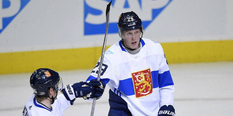 Patrick Laine during a Worlc Cup Of Hockey game
