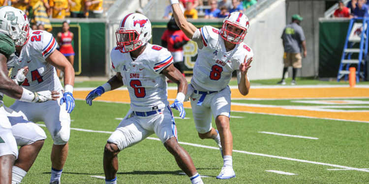 Southern Methodist Mustangs  team in action