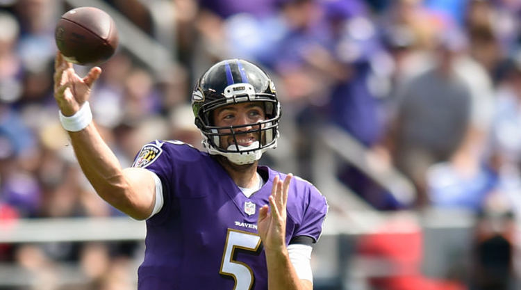 Joe Flacco Throwing Football