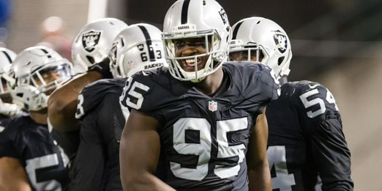Oakland Raiders player smiling