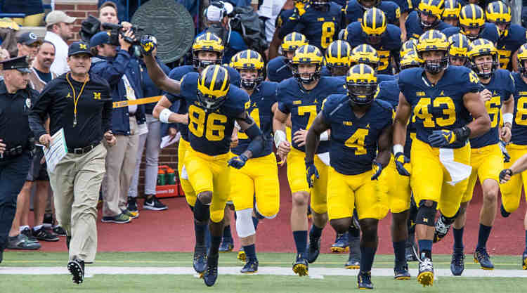 Michigan Wolverines Take the Field