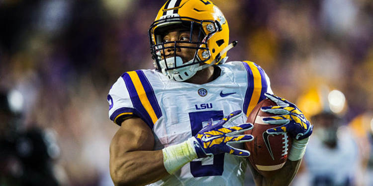 LSU Tigers running back in action