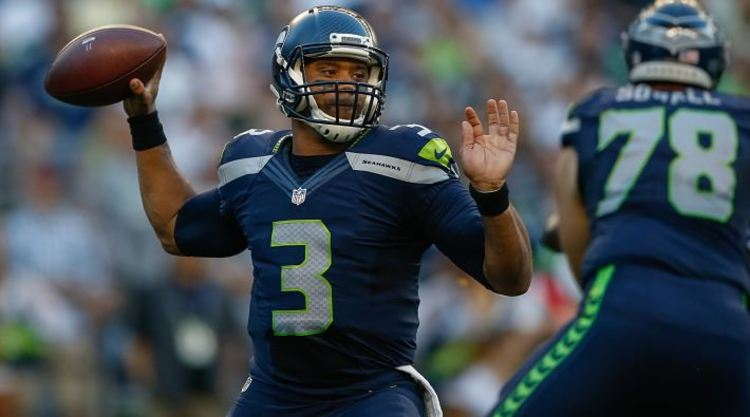 Russell Wilson Throwing The Football
