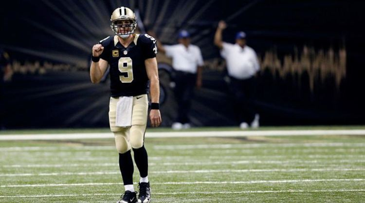 Drew Brees On The Field