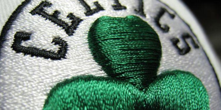 Zoomed Celtics Logo On Cap