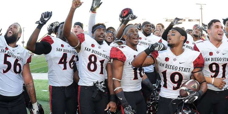 San Diego State Aztecs team celebrating
