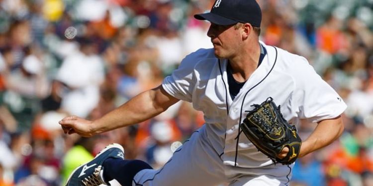 Tigers pitchers Jordan Zimmermann in action