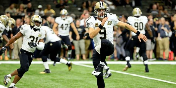 New Orleans Saints players in actions