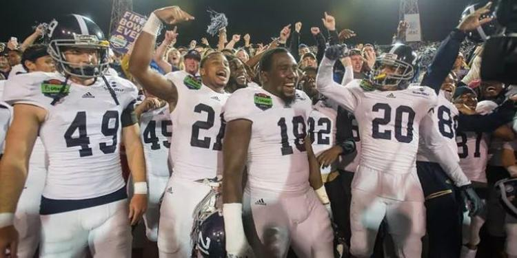 Georgia Southern Eagles players celebrating