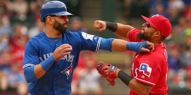 Blue Jays vs. Rangers fight