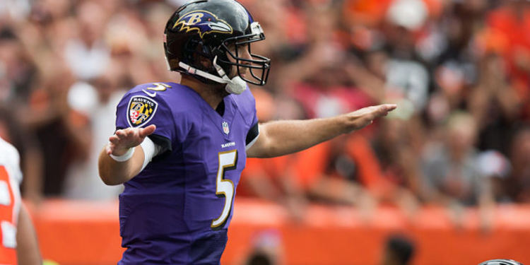 Baltimore Ravens player in action