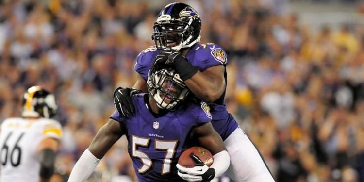 Baltimore Ravens  players in action