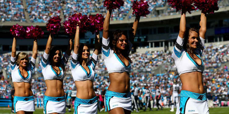 Carolina Panthers cheerleaders in action