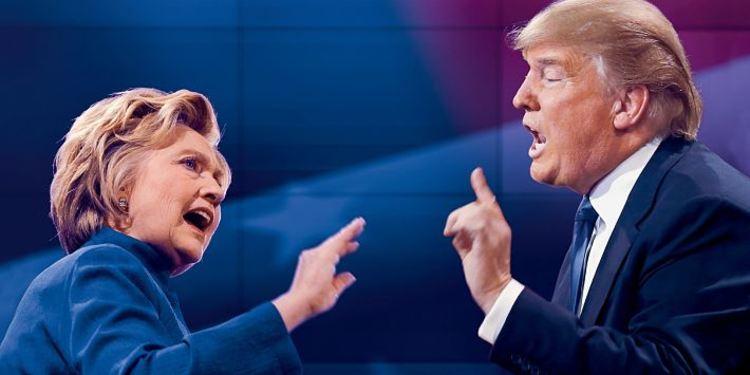 Both US presidential candidates in debate