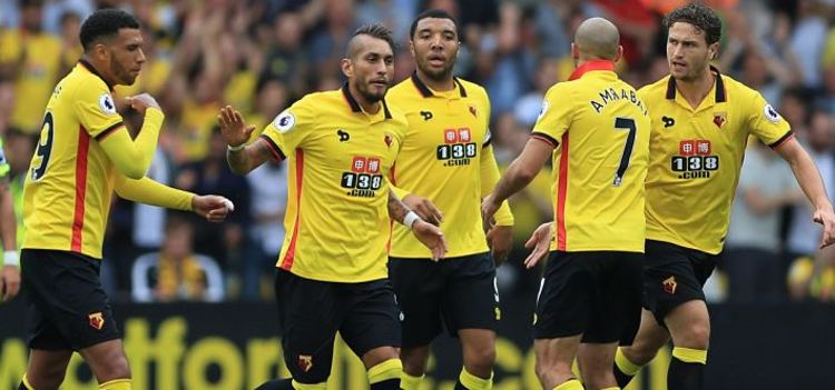 Watford FC celebrating a goal