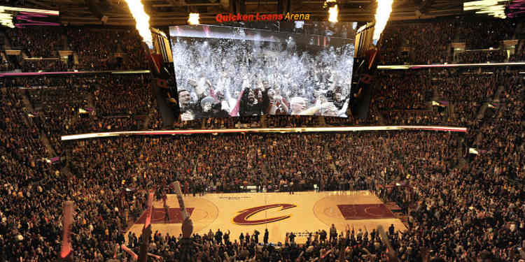 LeBron Brings's Cavaliers court