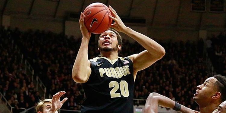 A.J. Hammons Purdue #20 dunking
