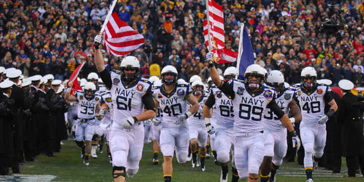 Navy Midshipmen take the field