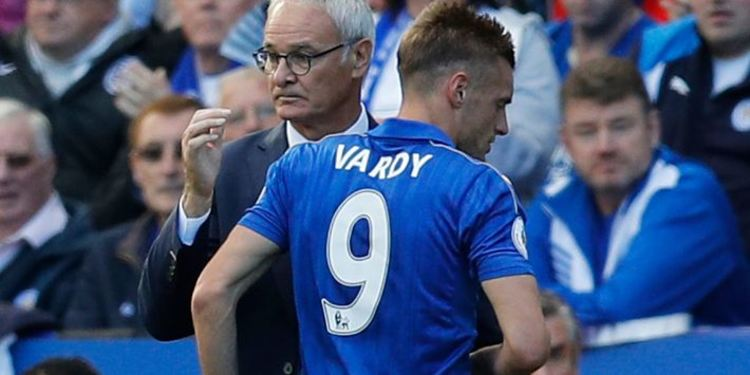 Jamie Vardy and manager Claudio Ranieri