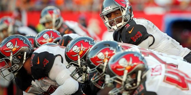 Tampa Bay Buccaneers players in action