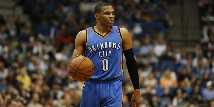 Thunders player Russell Westbrook