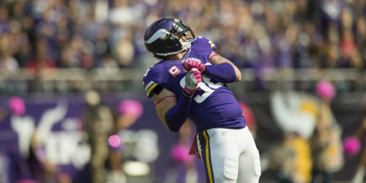 Brian Robison dancing on the field