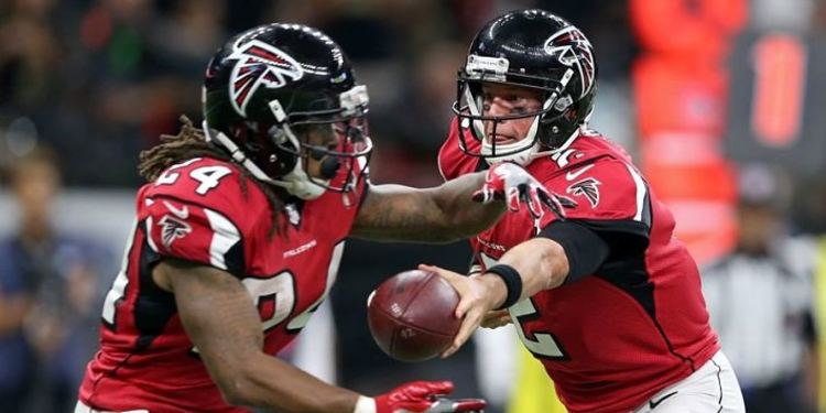 Atlanta Falcons  players in action