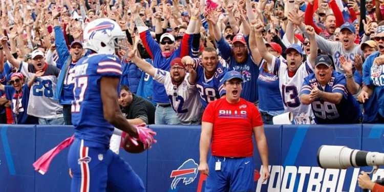 Buffalo Bills player in action